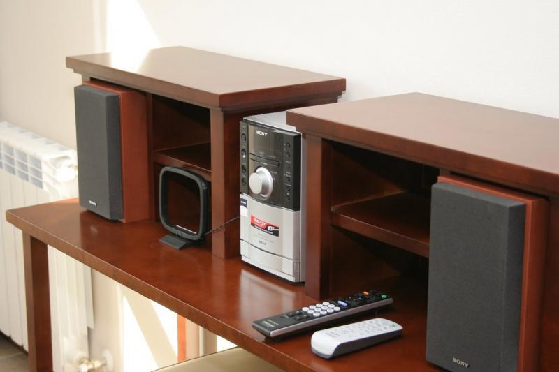 Equipo de audio en habitaciones