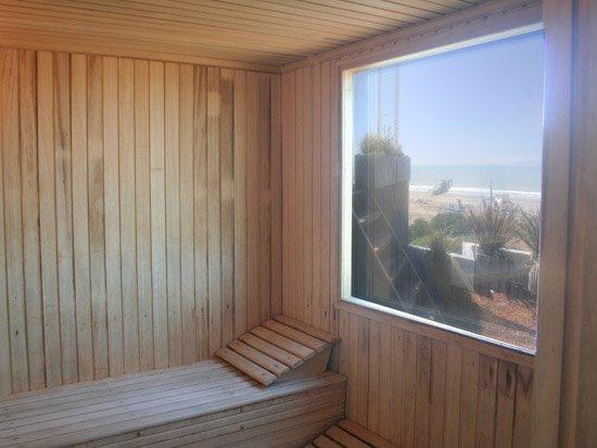 Sauna en el último nivel
